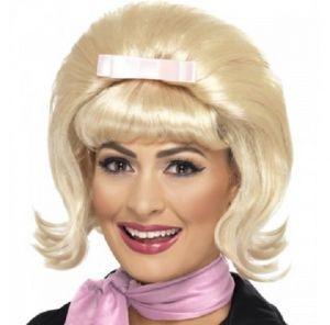50s Flicked Blonde Beehive Wig