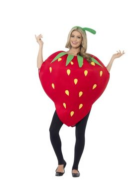Adult Strawberry Fancy Dress Costume