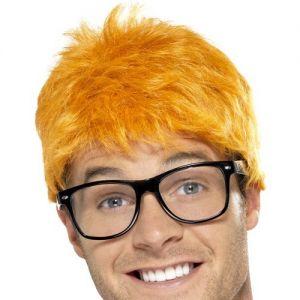 90s TV Host Wig & Glasses Set
