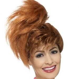 80's Side Pony Tail Wig with Fringe