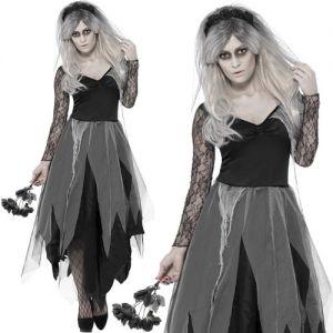 Ladies Halloween Graveyard Bride Costume