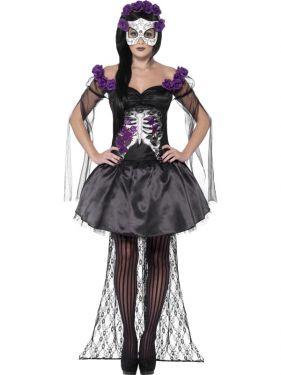Ladies Halloween Day of the Dead Signorita Costume