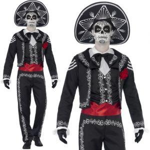 Mexican Day of the Dead Senor Bones Skeleton Costume