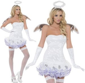 Ladies Angel Fancy Dress Costume