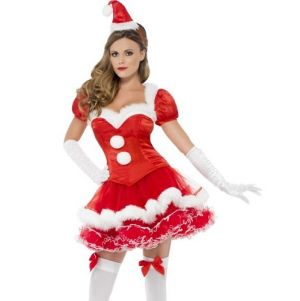 Christmas Ladies Fever Miss Santa Costume