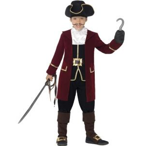 Childrens Deluxe Pirate Captain Costume