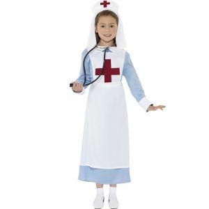 Girls WW1 Nurse Fancy Dress Costume