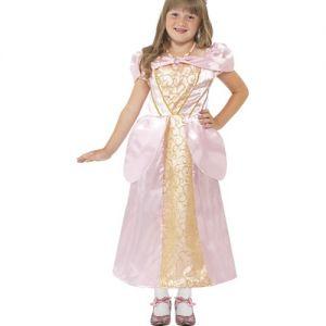 Girls Sleeping Princess Fancy Dress Costume - Pink - S & M
