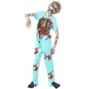 Boys Halloween Zombie Surgeon Doctor Costume
