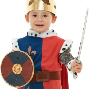 Viking Shield & Sword Set - Blue/Red