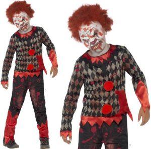 Boys Halloween Deluxe Zombie Clown Costume