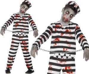 Boys Halloween Zombie Convict Costume