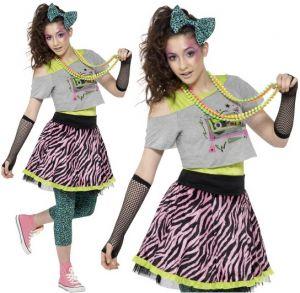80's Wild Child Teen Fancy Dress Costume