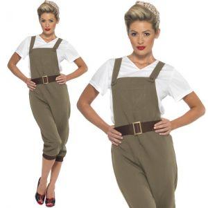 Ladies WW2 40s Land Girl Costume