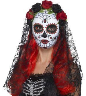 Halloween Day of the Dead Senorita Mask