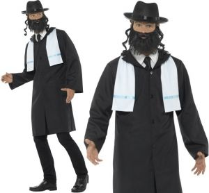 Mens Rabbi Jewish Scholar Costume