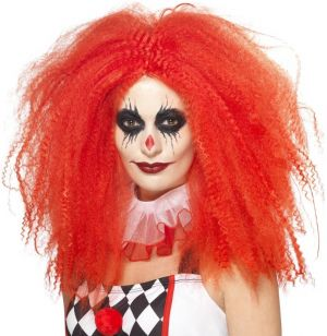 Deluxe Crazy Clown Wig - Red
