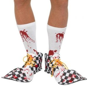 Halloween Clown Bloody Shoe Covers