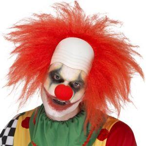 Adult Deluxe Crazy Clown Wig & Headpiece