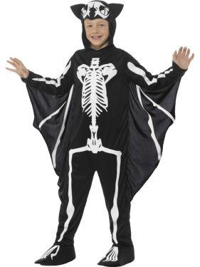 Childrens Bat Skeleton Fancy Dress Costume
