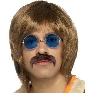Mens 60s Hippy Singer Wig Kit