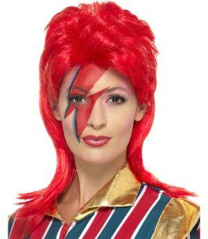 70s Space Superstar Fancy Dress Wig