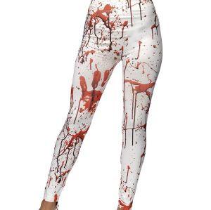 Halloween White Horror Leggings