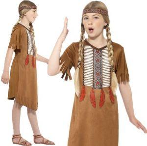 Girls Native American Inspired Indian Costume