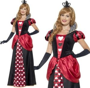 Ladies Royal Queen of Hearts Long Costume