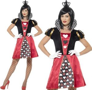 Ladies Carded Queen of Hearts Costume