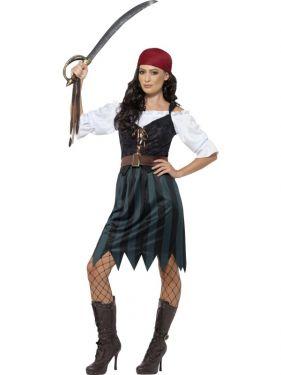 Ladies Deckhand Pirate Girl Costume