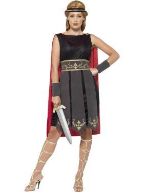 Ladies Roman Warrior Fancy Dress Costume