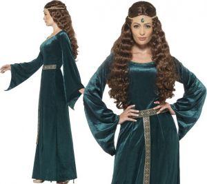 Ladies Medieval Maid Marion Costume - Dark Green