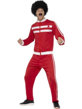 80s Fancy Dress Scouser Track Suit Costume