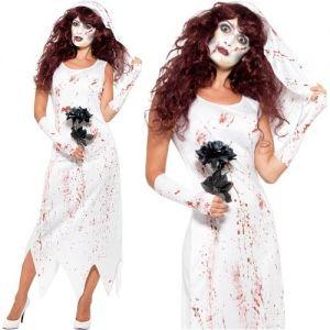 Ladies Zombie Bride Fancy Dress Costume