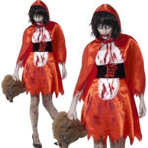 Ladies Halloween Zombie Miss Riding Hood Costume