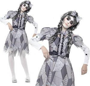 Ladies Damaged Doll Fancy Dress Costume
