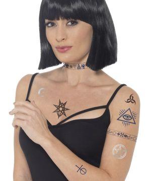 Halloween Occult Tattoo Set