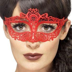Red Filigree Mask