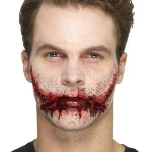 Halloween Stitched Smile Scar