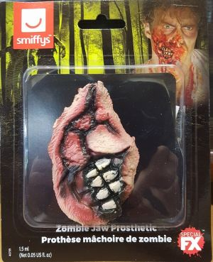 Halloween 3D Horror Wound Zombie Jaw Make Up by Smiffys