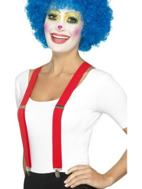 Clown or Gangster Fancy Dress Braces - Red