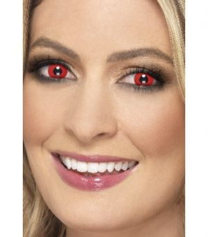 One Day Wear Red Devil Contact Lenses - 1 Pair