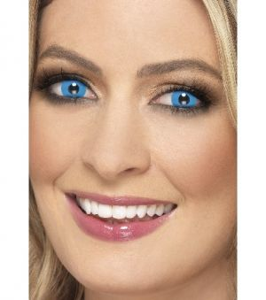 One Day Wear Harlequin Blue Contact Lenses - 1 Pair
