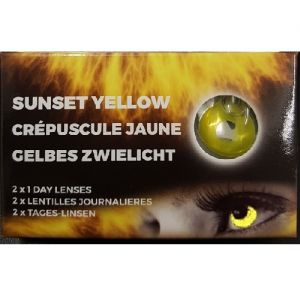 One Day Wear Sunset Yellow Contact Lenses