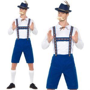 Bavarian Man Oktoberfest Blue Fancy Dress Costume