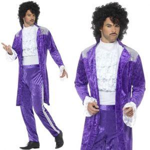80s Purple Musician Prince Costume