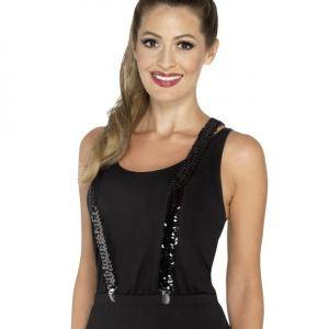 Ladies Sequin Braces - Black