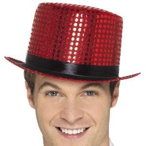 Red Sequin Top Hat