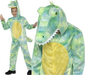 Childs Deluxe Dinosaur Fancy Dress Costume
